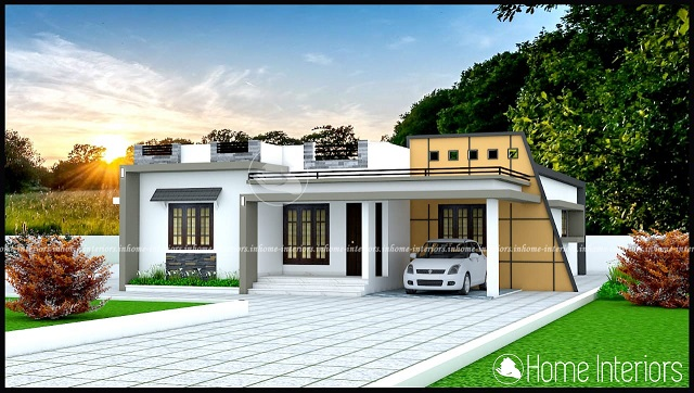 1700 Square Feet Single Floor Contemporary Home Designs