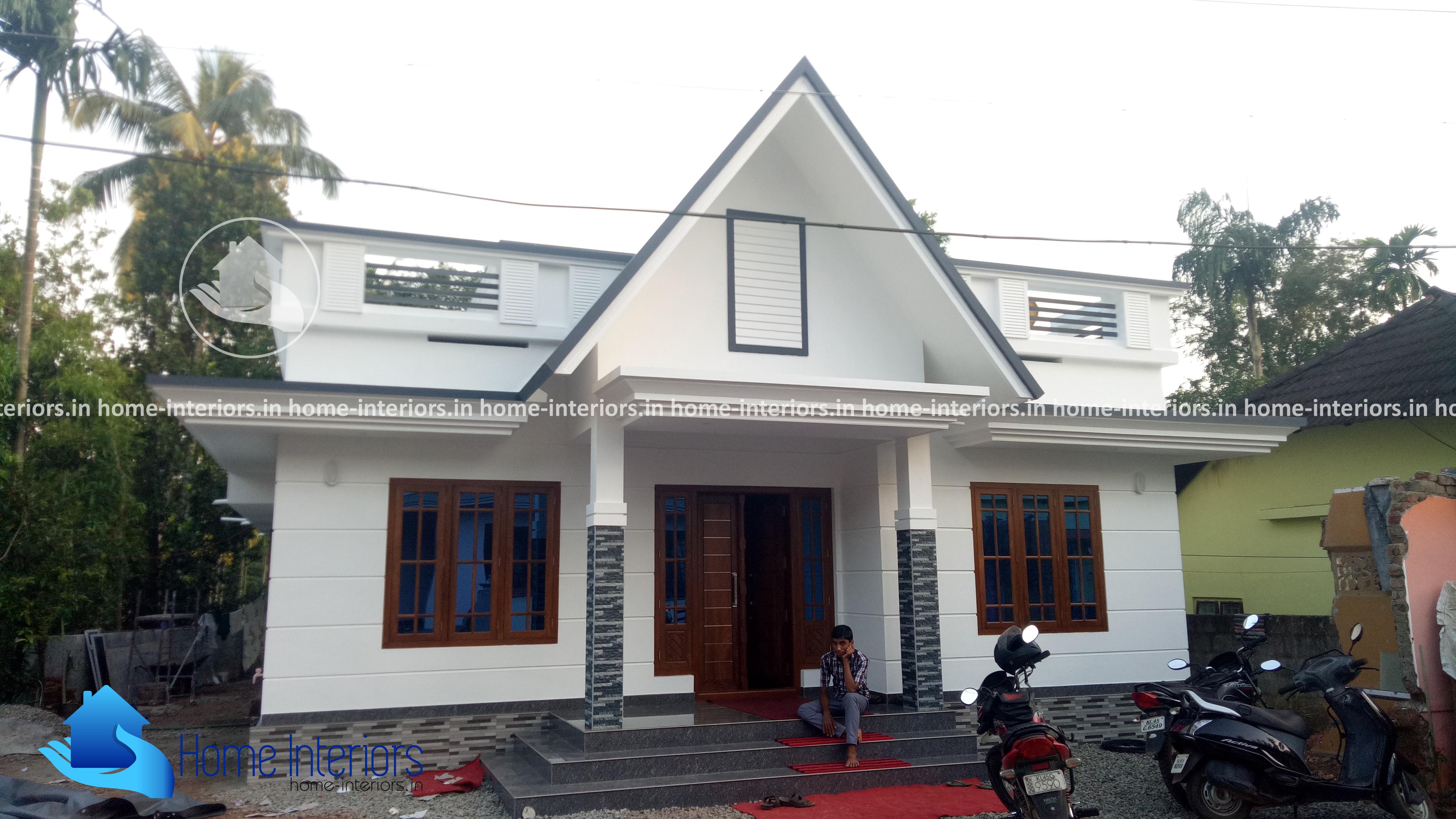1350 Square Feet Single Floor Modern Style Home Design