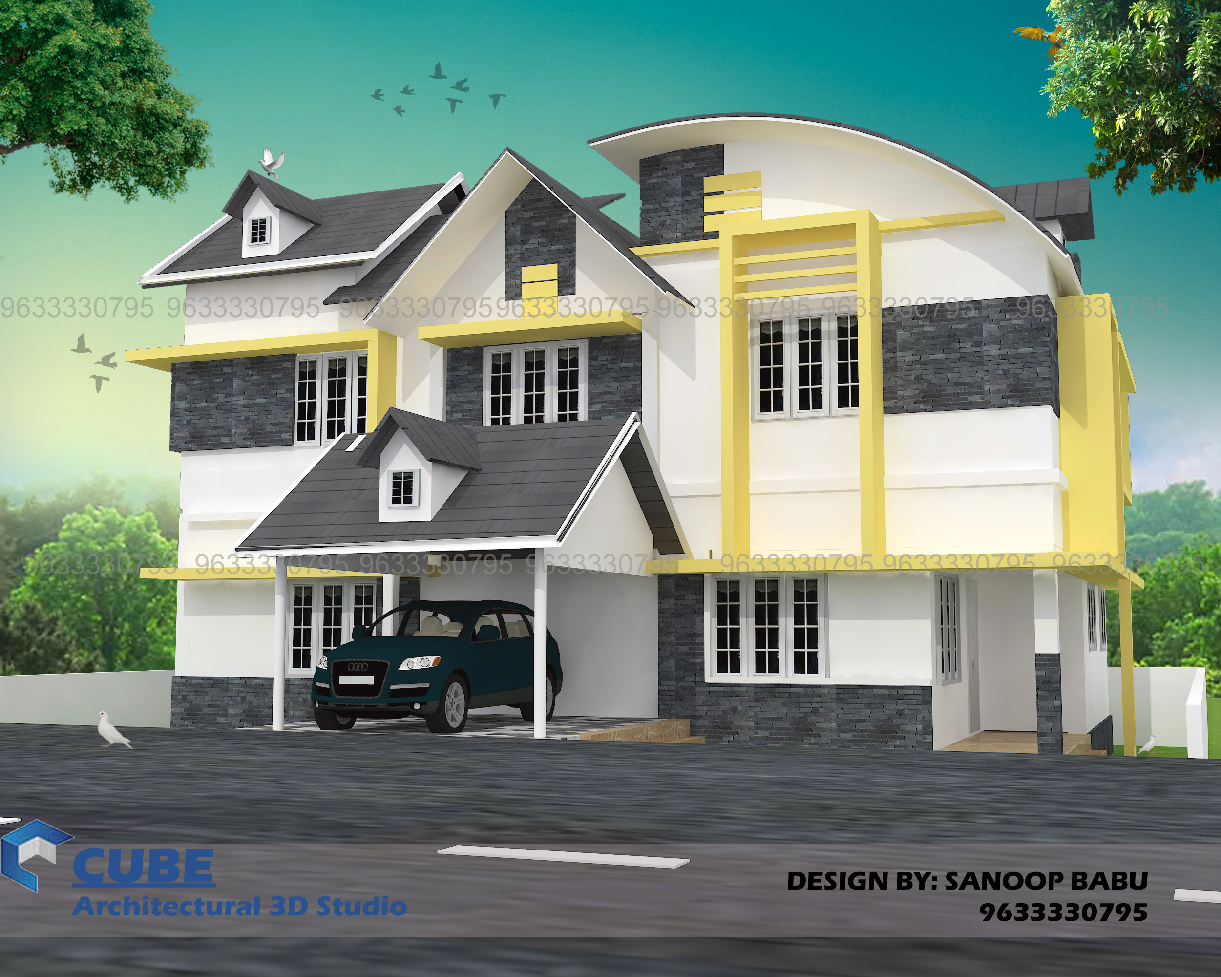 2258 Square Feet Double Floor Home Design