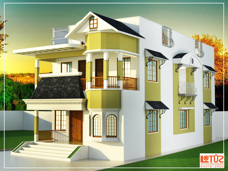 2000 Square Feet Double Floor Home Design