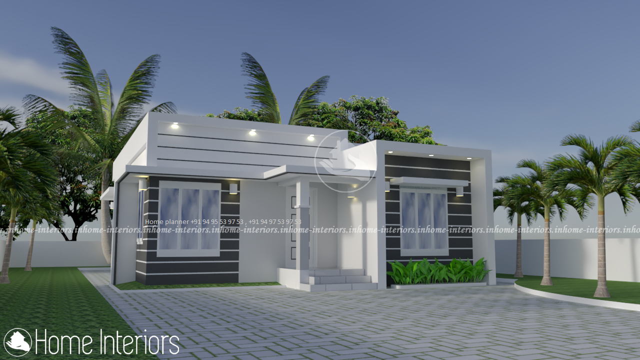 Amazing Low Cost 3 BHK Single Floor Home Design