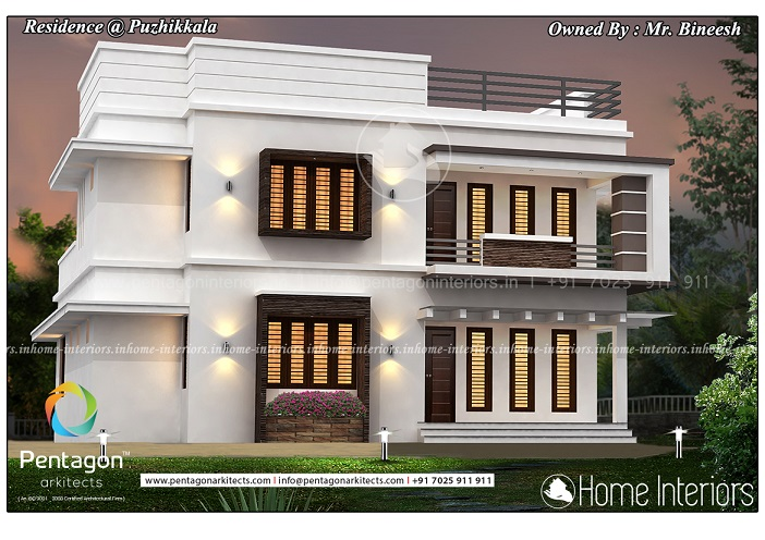 1865 Square Feet Double Floor Contemporary Home Design