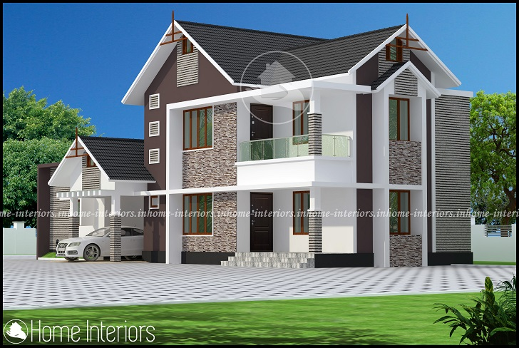 2222 Square Feet Double Floor Contemporary Home Design