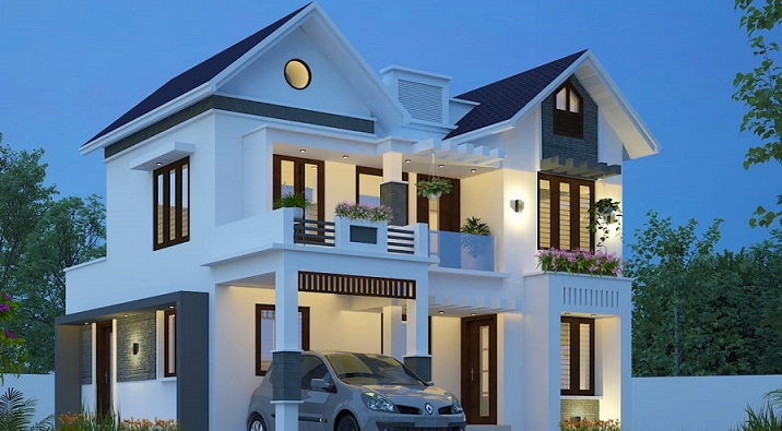 1800 Sq Ft Double Floor Contemporary, Kerala House Plans Below 1800 Sq Ft