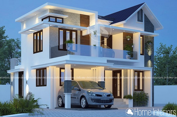 1850 Sq Ft Double Floor Contemporary Home Designs