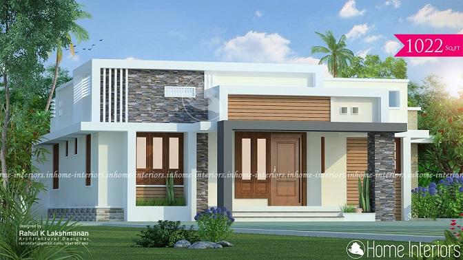 1022 Square Feet Single Floor Contemporary Home Design