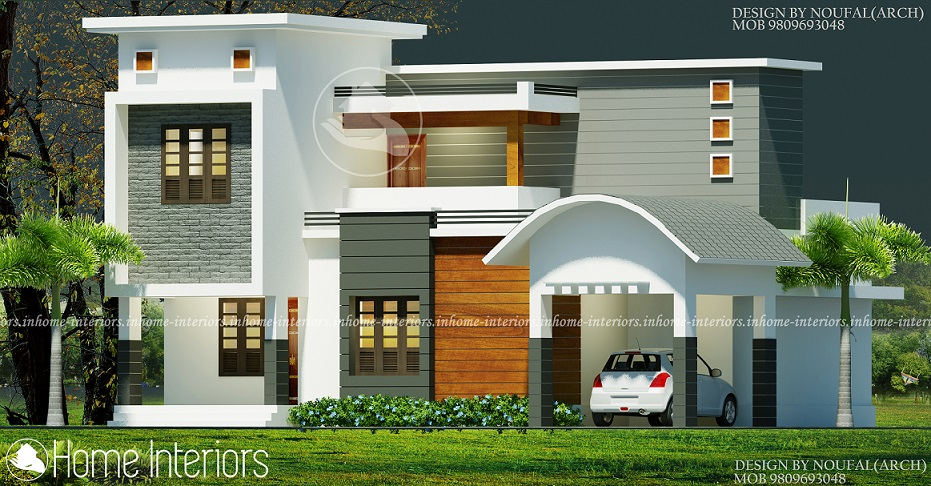 1800 Square Feet Double Floor Contemporary Home Design