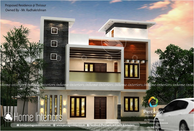 2717 Square Feet Double Floor Contemporary Home Design