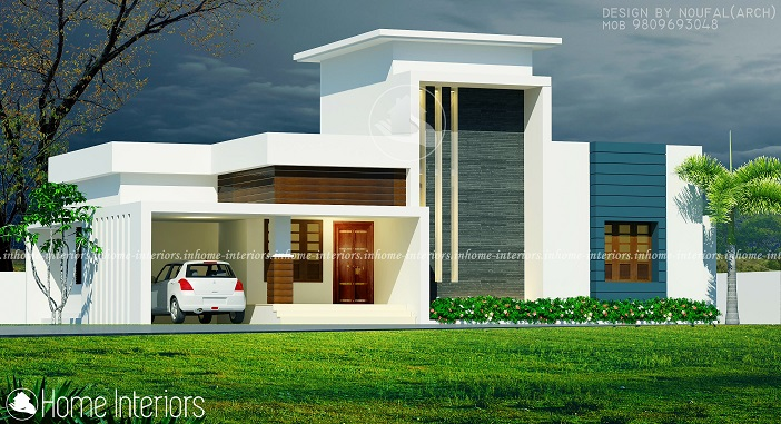 1200 Square Feet Single Floor Contemporary Home Design