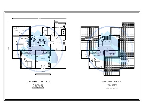 2190 Square Feet Double Floor Contemporary Home Design