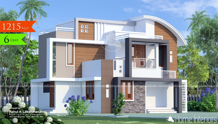 1215 Square Feet Double Floor Contemporary Home Design