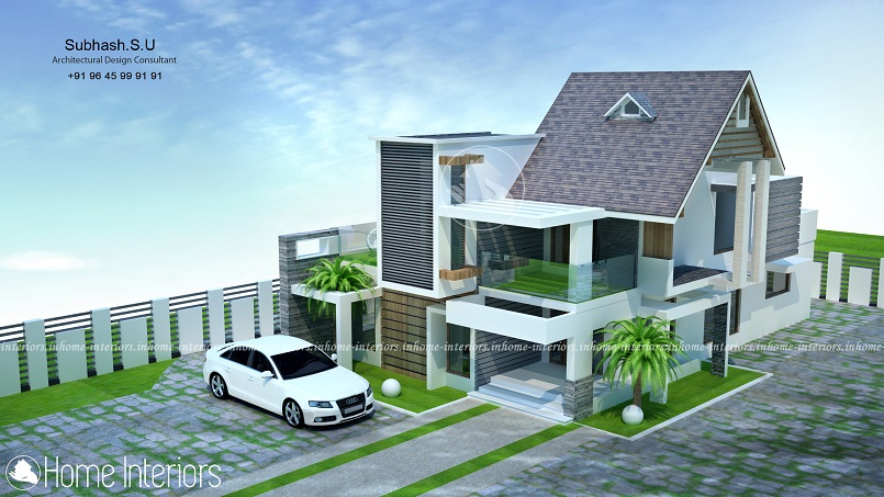 2500 Square Feet Double Floor Contemporary Home Design
