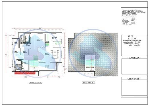 1033 Square Feet Single Floor Contemporary Home Design