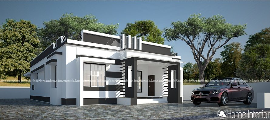 1352 Square Feet Single Floor Contemporary Home Design