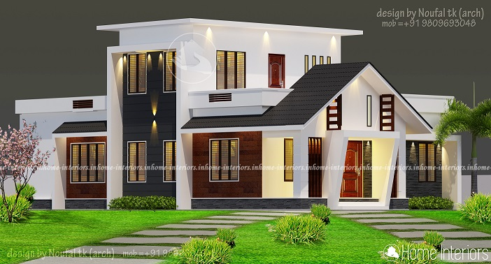 1700 Square Feet Double Floor Contemporary Home Design