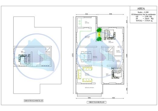 1700 Square Feet Double Floor Contemporary Home Design