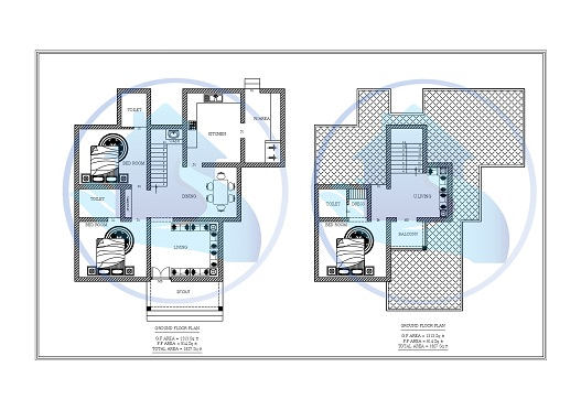 1827 Square Feet Double Floor Contemporary Home Design