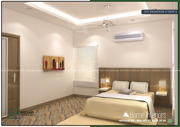 Excellent And Amazing Kerala Home Interior Bedroom 2 View 2 Designs Home Interiors
