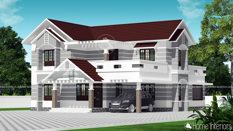 2872 Square Feet Double Floor Contemporary Home Design