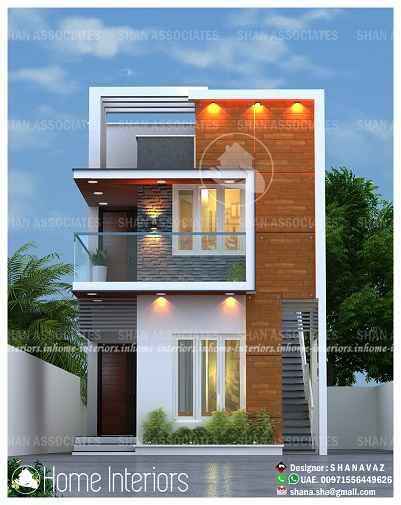 1568 Square Feet Double Floor Contemporary Home Design