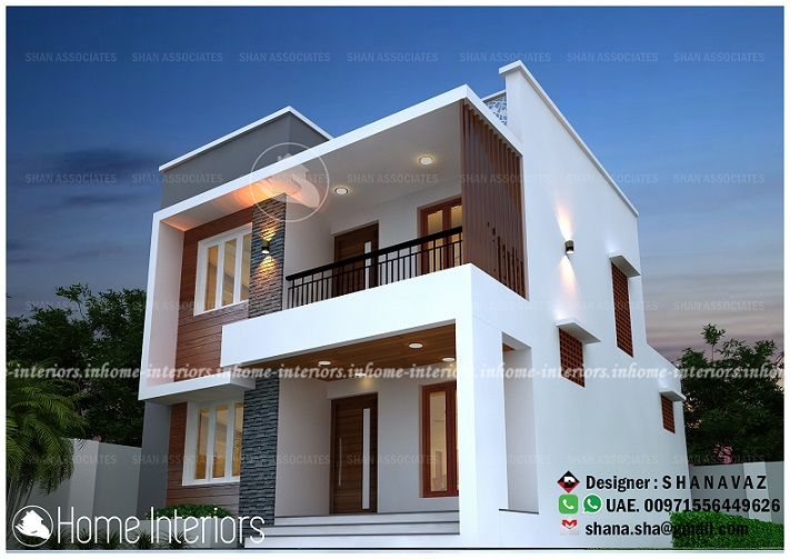 1657 Square Feet Double Floor Contemporary Home Design