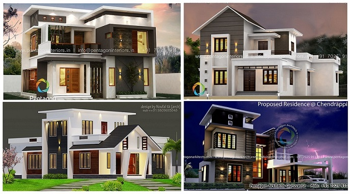 Top Low Cost Budget 3 BHK Modern Style Home Designs