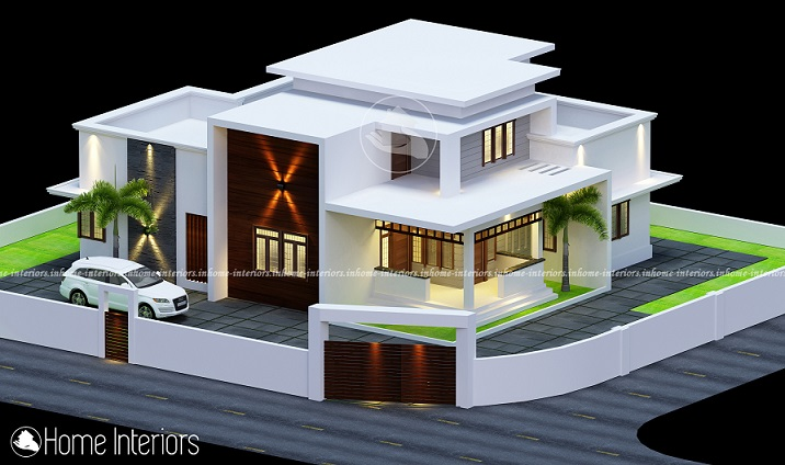 2077 Square Feet Double Floor Contemporary Home Design