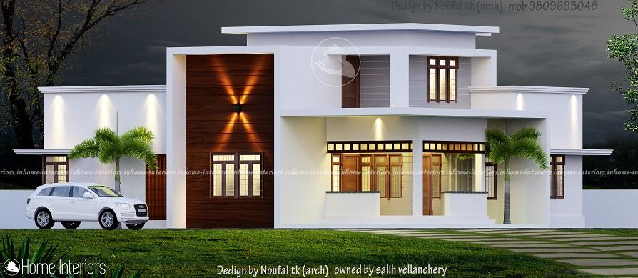 2077 Square Feet Double Floor Contemporary Home Design