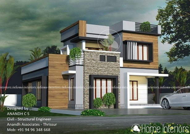 1553 Square Feet Double Floor Contemporary Home Design