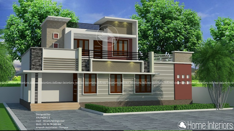 1352 Square Feet Double Floor Contemporary Home Design