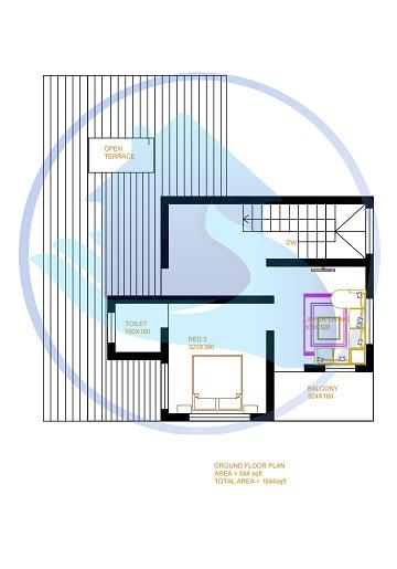 1684 Square Feet Double Floor Contemporary Home Design
