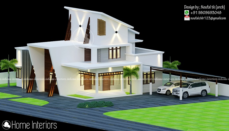 2000 Square Feet Double Floor Modern Home Design