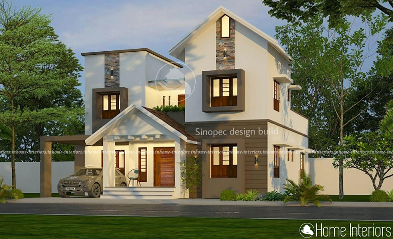 2205 Square Feet Double Floor Contemporary Home Design