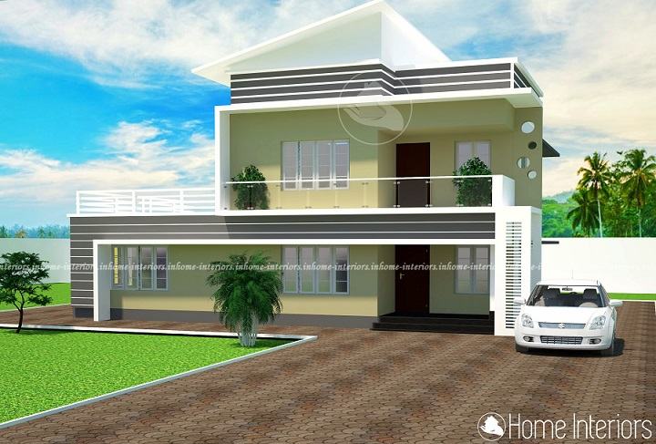 1684 Square Feet Double Floor Contemporary Home Design