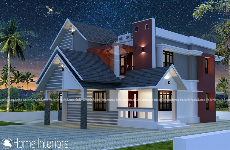 1800 Square Feet Double Floor Modern Home Design