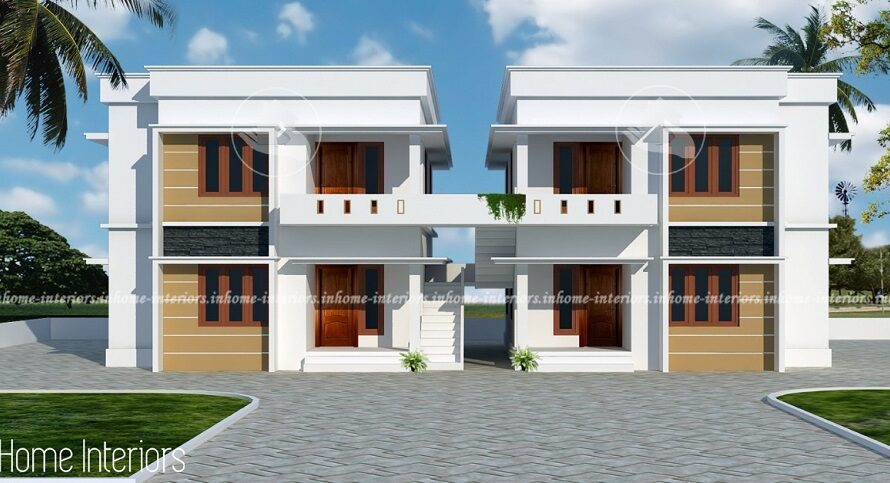 3200 Square Feet Double Floor Apartment Home Design