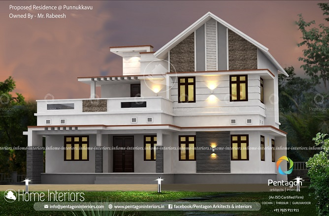 2576 Square Feet Double Floor Contemporary Home Design
