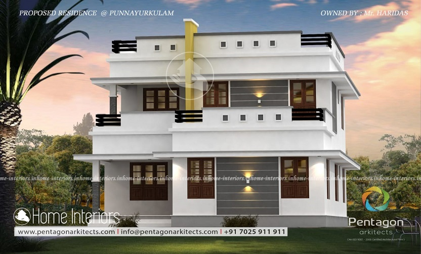 2068 Square Feet Double Floor Contemporary Home Design