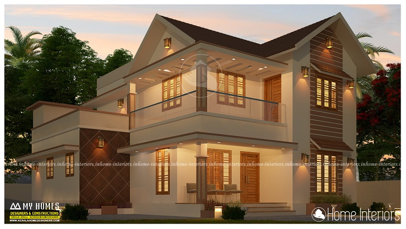 1800 Square Feet 4 BHK Double Floor Kerala Home Design