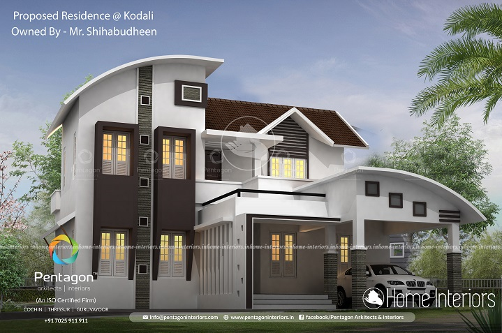 2159 Square Feet Double Floor Contemporary Home Design