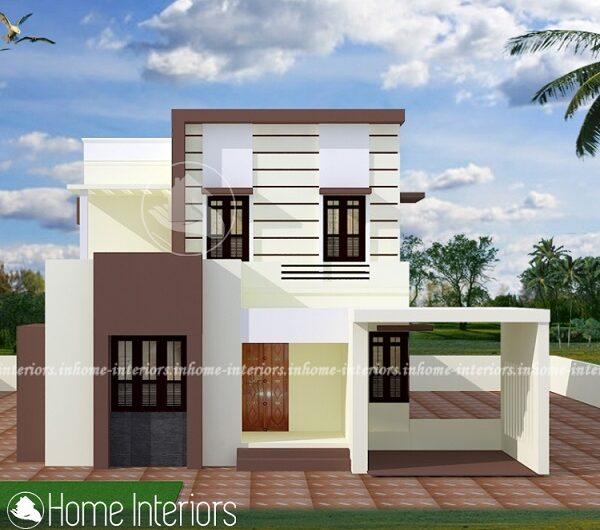 1453 Square Feet Double Floor Contemporary Home Design