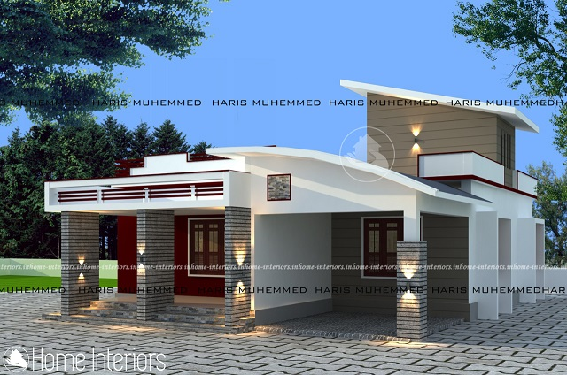 1100 Square Feet Single Floor Contemporary Home Designs