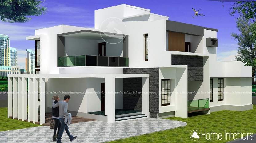 2800 Square Feet Double Floor Contemporary Home Design