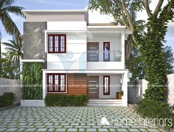 1540 Square Feet Double Floor Contemporary Home Design