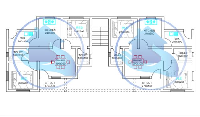 3200 Square Feet Double Floor Apartment Home Design