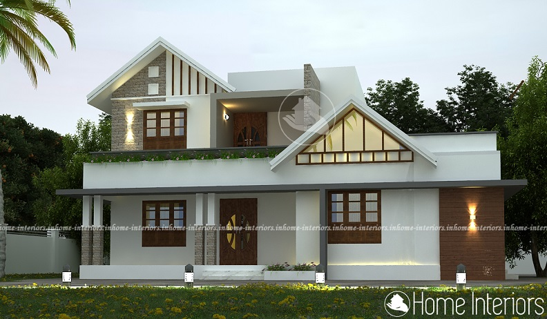 2300 Square Feet Double Floor Contemporary Home Design