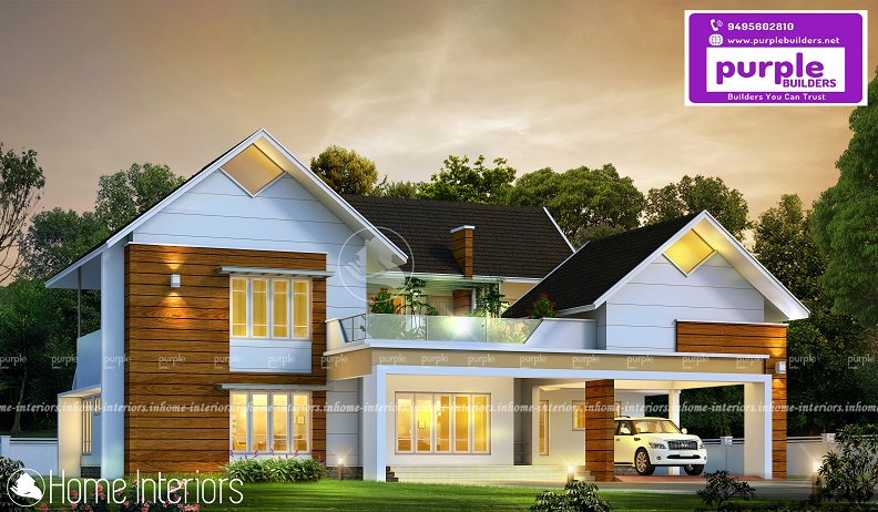 2721 Square Feet Double Floor Contemporary Home Design