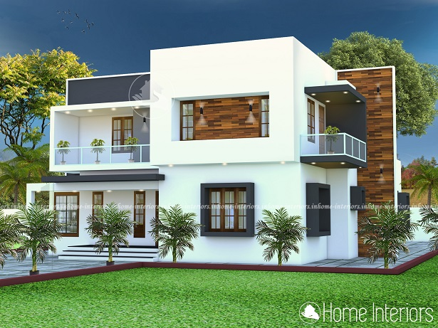 2200 Square Feet Contemporary Double Floor Home Design