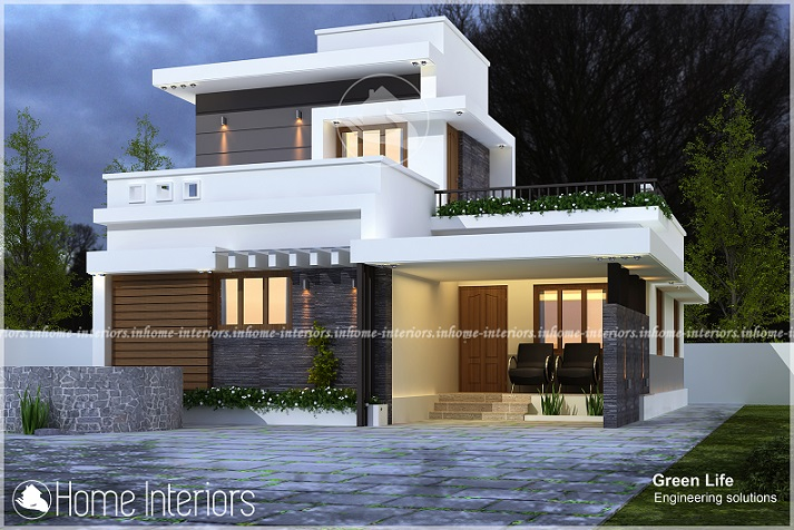 1310 Square Feet Single Floor Contemporary Home Design