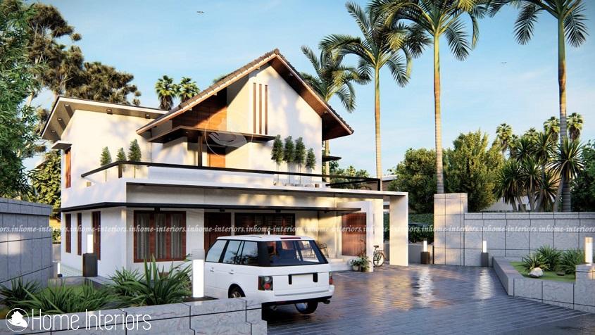 2200 Square Feet Double Floor Contemporary Home Design